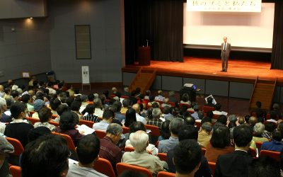 「核のゴミ」について考え合った講演会=10月15日、茨城県ひたちなか市